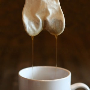 wet teabag